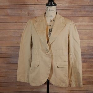 Old Navy Maternity Large Khakis tan Jacket blazer